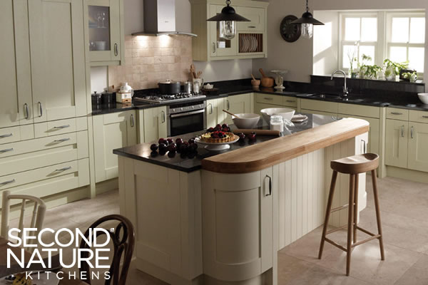 Verwood Kitchens and Bathrooms - Second Nature Milbourne Alabaster kitchen