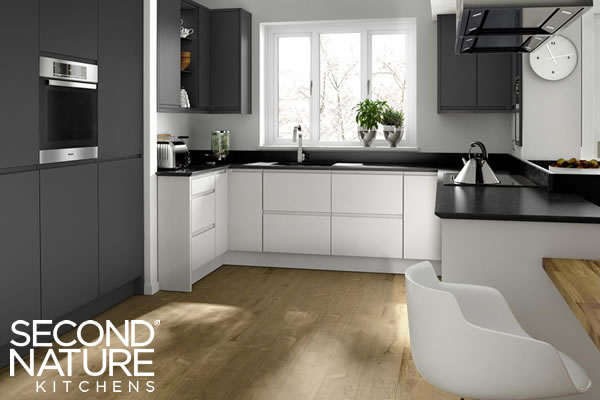 Verwood Kitchens and Bathrooms - Second Nature Remo Graphite kitchen